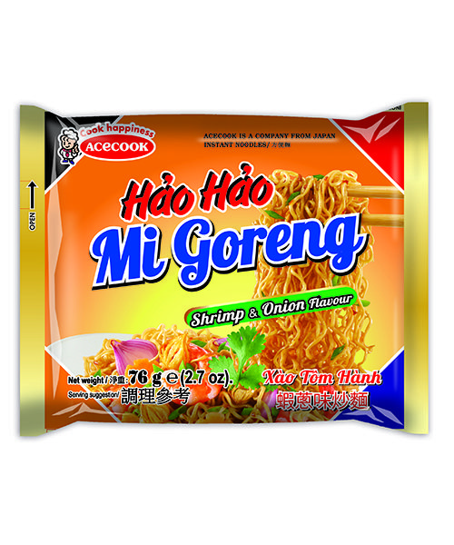 Hao Hao Instant Noodles Fried Onion Shrimp Flavour
