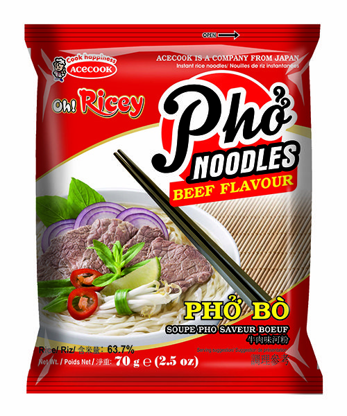 Oh! Ricey Instant Rice Noodles Beef Flavour