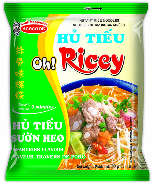 Oh! Ricey Instant Rice Noodles Spare Rib Flavour