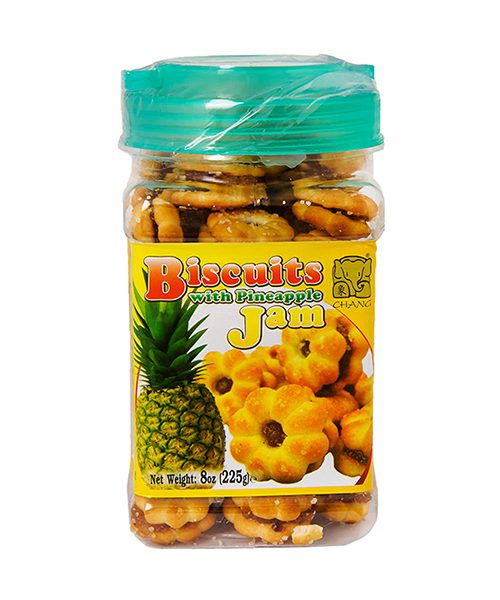 Chang Coconut Biscuits with Pineapple Jam Filling