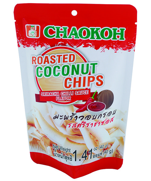 Chaokoh Roasted Coconut Chips Sriracha