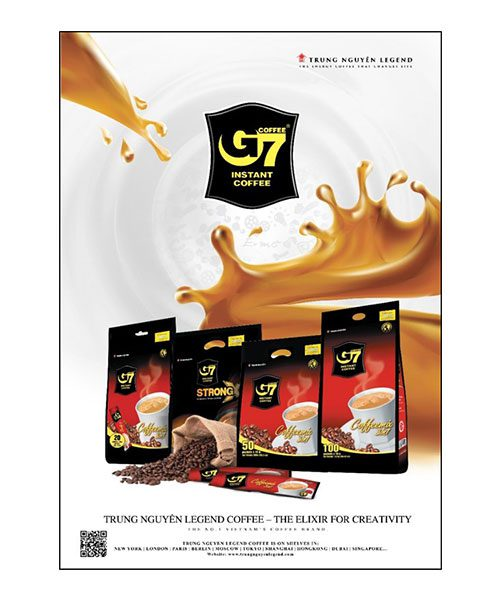 G7 & Trung Nguyen Coffee Poster A3 Size