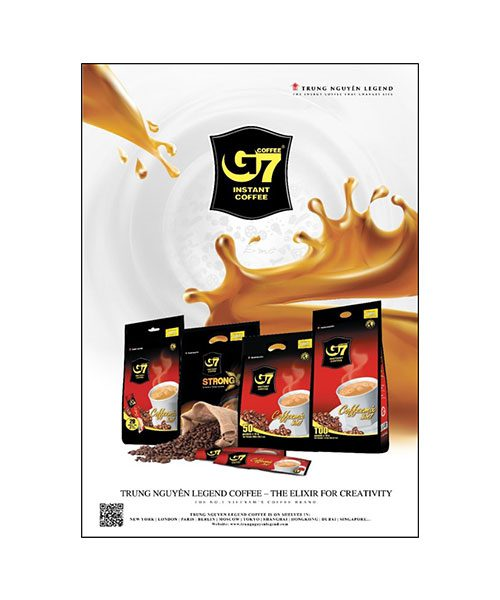 G7 & Trung Nguyen Coffee Poster A4 Size