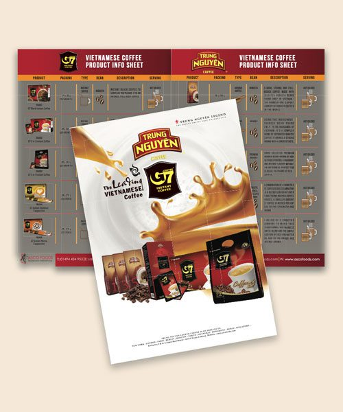G7 & Trung Nguyen Coffee Profile Booklet A5 Size