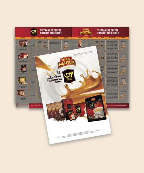G7 & Trung Nguyen Coffee Profile Booklet A6 Size