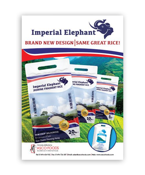 Imperial Elephant Poster A4 Size