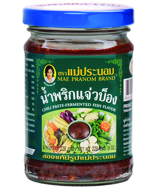 Mae Pranom Thai Chilli Paste:- FERMENTED FISH FLAVOUR
