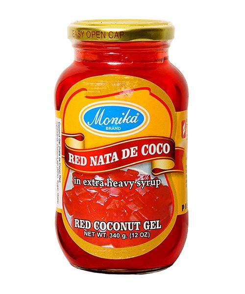 Monika Preserves Coconut Gel (Nata De Coco) Red