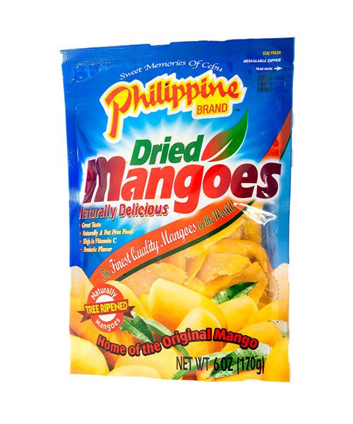 Philippine Brand Dried Mangoes (Resealable Pouch)