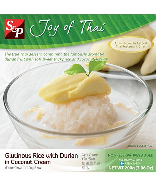 S&P FROZEN Glutinous Rice with Durian Coconut Cream