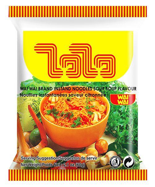 Wai Wai Instant Noodles Tom Yum Sour Soup Flavour