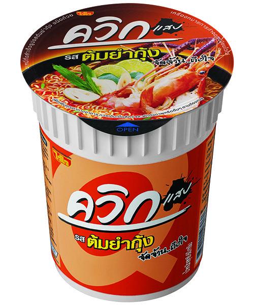Wai Wai QUICK Cup Noodles Tom Yum (Hot & Sour) Shrimp Flavour